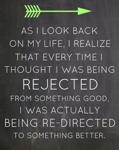 As I look back on my life, I realize that every time I thought....