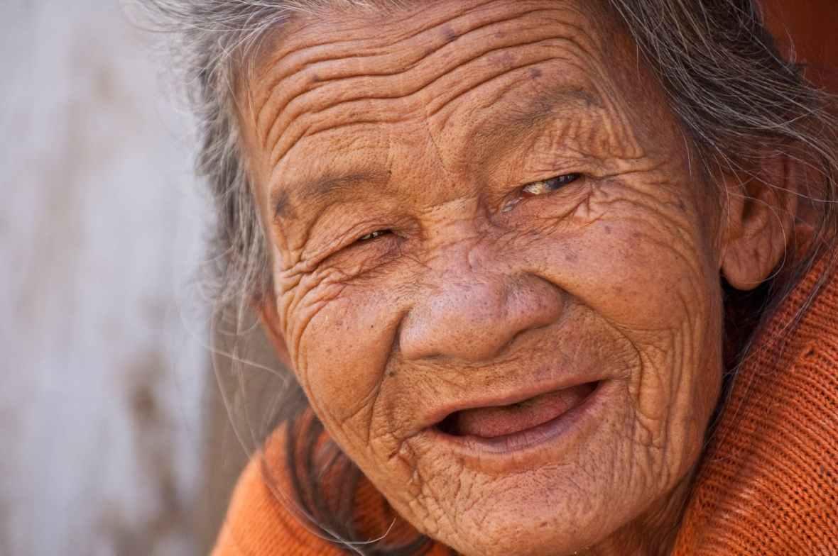 Aging gracefully,wrinkles