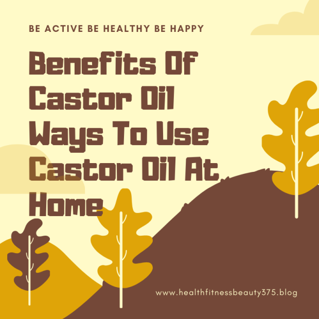 Castor oil benefits